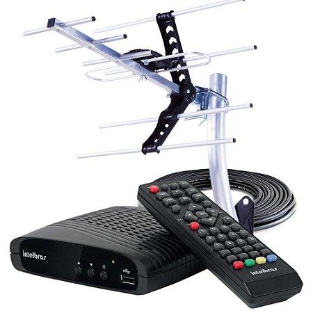 Kit Conversor Digital de TV Intelbras com Antena Externa