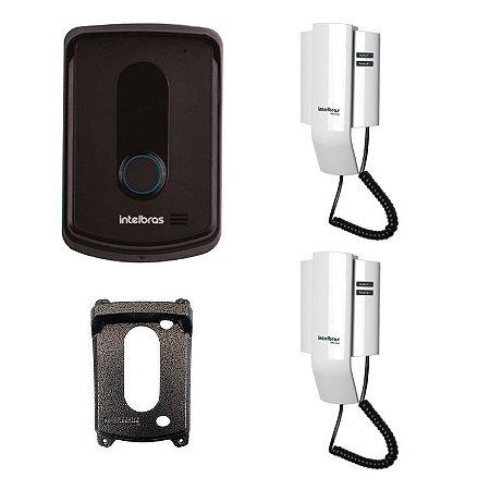 Interfone Residencial Intelbras IPR 8010 Com Extensão IPR 8000 in E Protetor