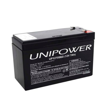 Bateria Selada Unipower 12v 7A  Alarme Cerca Nobreak