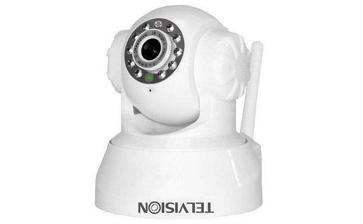 Câmera de Segurança IP WiFi Pan Tilt  - 360° 15 Metros 12 leds