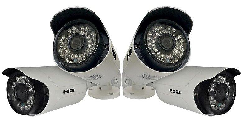 Kit 4 Câmeras Hdcvi Hb 306 Alta Definição 960p HB Tech 35 Metros