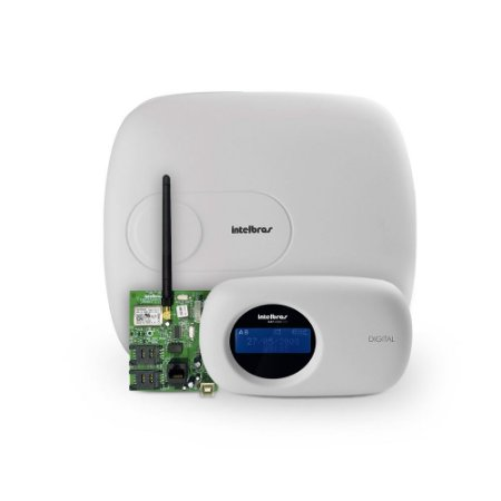 Kit Central de Alarme Monitorada AMT 4010 Smart Intelbras Com Módulo Ethernet Xeg 4000