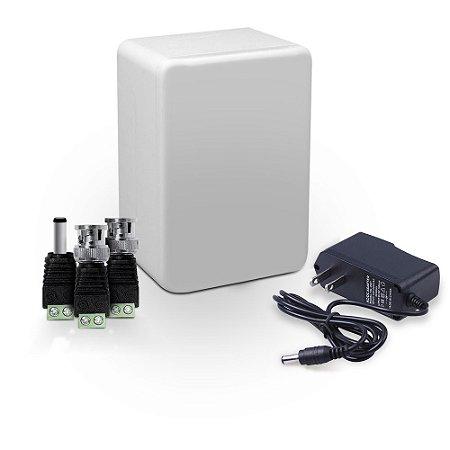 Kit Instalação Cftv Com Fonte Caixa de Passagem e Conectores