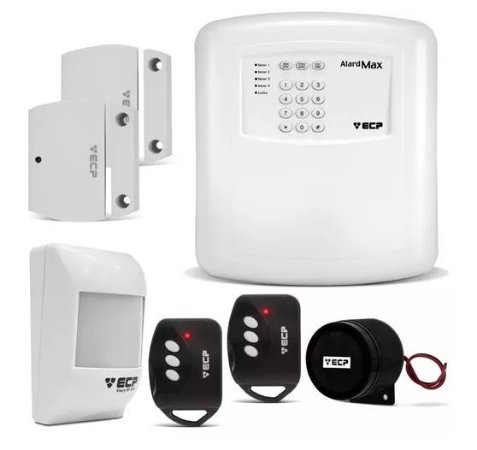 Kit Alarme Residencial e Comercial ECP Alard Max 4 Completo