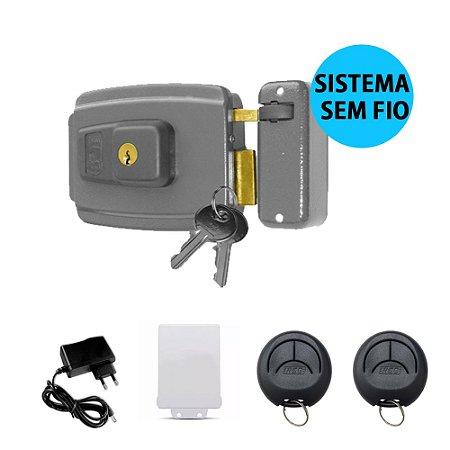 Kit Fechadura Elétrica Com Abertura Por Controle Sem Fio