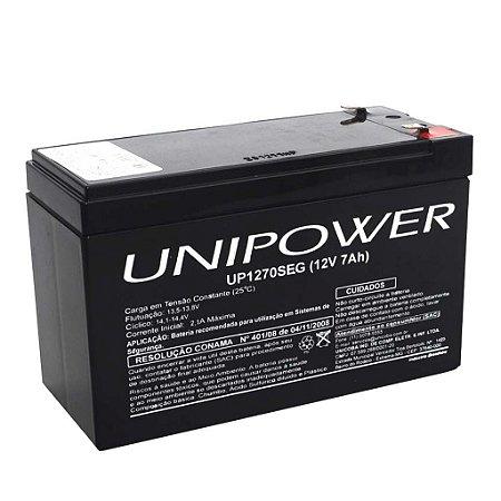 Kit 5 Baterias 12v 7a Selada Unipower Para Alarmes E Cerca