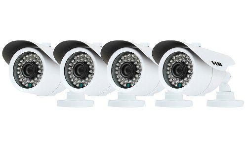 Kit 4 Câmeras De Segurança Analógicas Bullet Externas