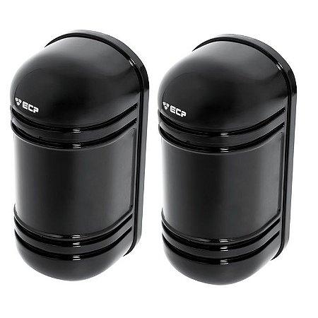 Sensor De Barreira Ativa Casa Duplo Feixe 100 Metros Ecp