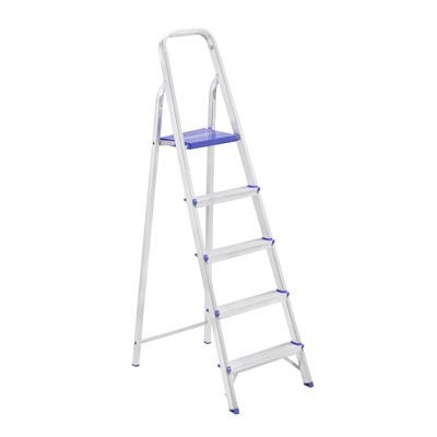 Escada De Aluminio Mor 5 Degraus