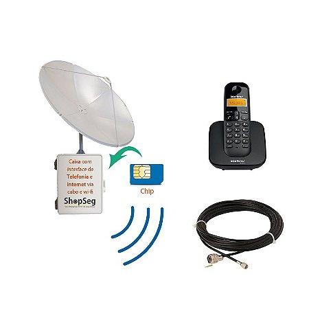 Kit Sistema de Telefonia Rural e Internet Rural Wifi Para Fazendas e Sítios