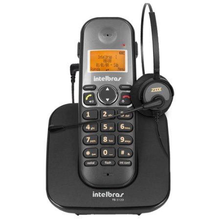 Kit Telefone Sem Fio Intelbras Ts 5120 c/ Headset Zox HZ-30