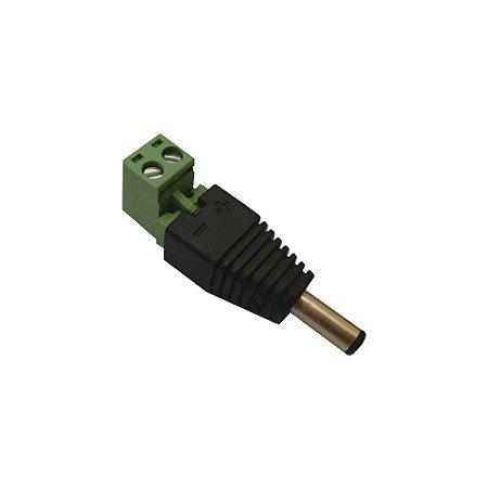 Conector P4 Borne Macho - CFTV