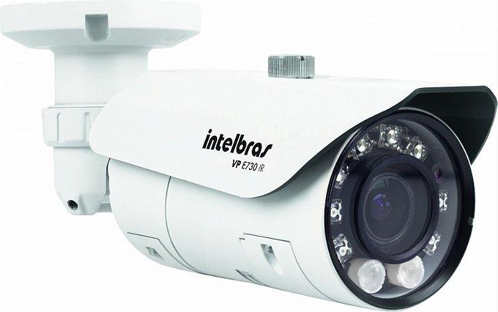 Câmera Profissional Intelbras VP E730 IR | 650 linhas 40 Metros Lente Varifocal CCD 1/3 Super HAD II