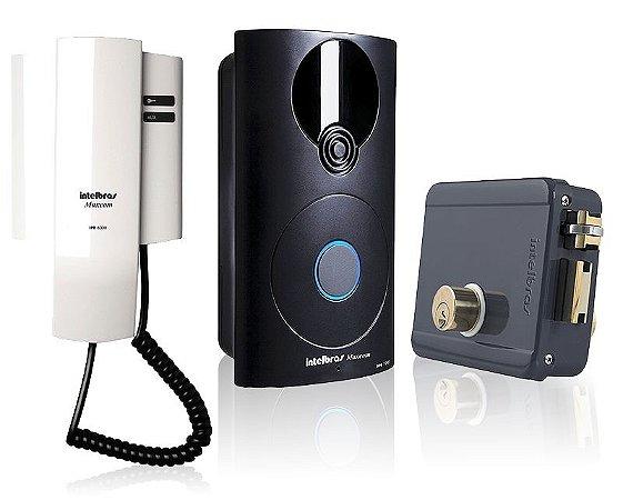 Kit Interfone Intelbras Ipr 8000 e Fechadura Intelbras FFX 1000