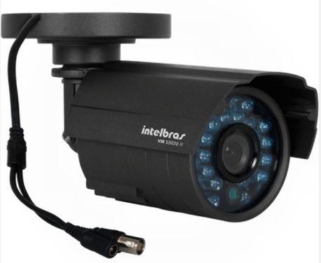 Câmera de Segurança Intelbras Vm s5020 Lente 3,6mm 600 Linhas 25 Metros Preta