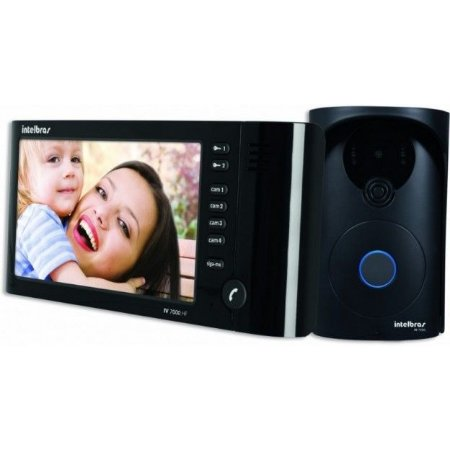 Video Porteiro Intelbras Iv 7000 Hf Preto