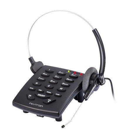 Telefone Headset Felitron S8010 Stile Black