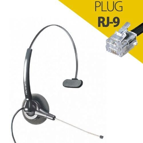 Headset Felitron Stile Compact Black Conector Rj-9