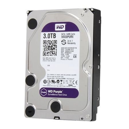 HD CFTV Western Digital Purple 3TB SATA WD30PURX