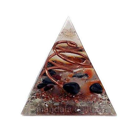 Orgonite Pirâmide Cobre 4cm