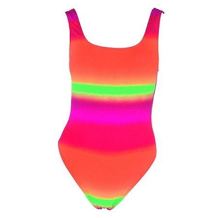 Maiô Kymacta Surf Regata Tie Dye Neon
