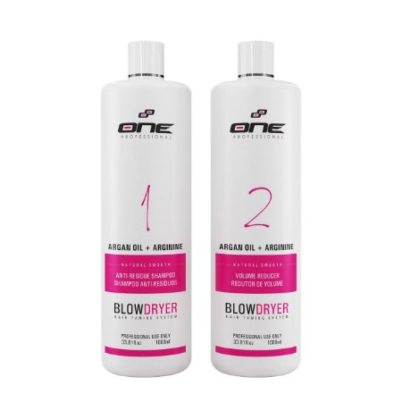 One Two Step progressiva a base de argan kit 2 passos 1lt