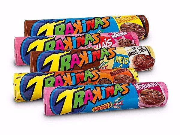 Bicoito Trakinas 143g (vários sabores)