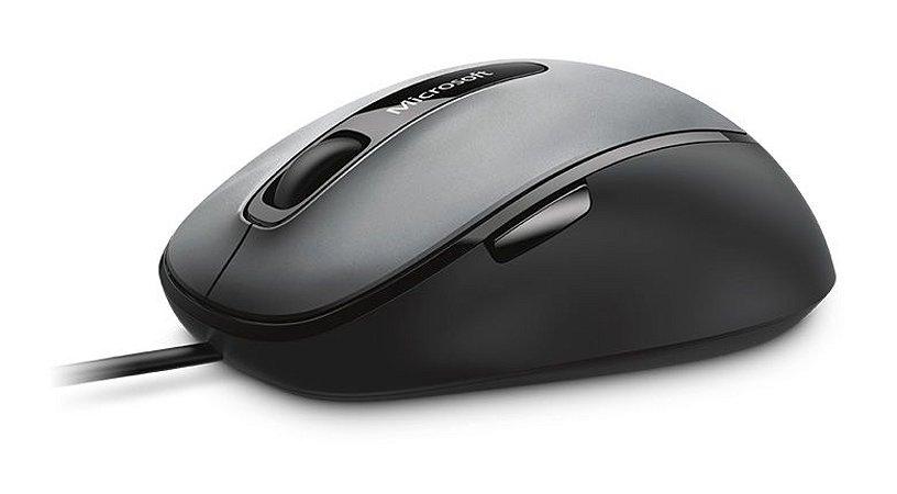 Mouse Microsoft Comfort 4500 - Preto e Grafite - 4FD-00025