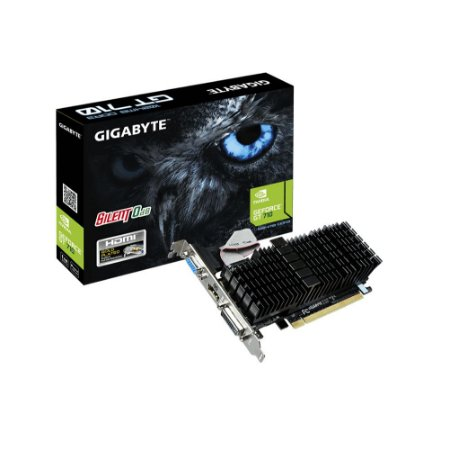 Placa de Vídeo NVIDIA GT 710 1GB DDR3 PCI-E GIGABYTE GV-N710SL-1GL REV2.0