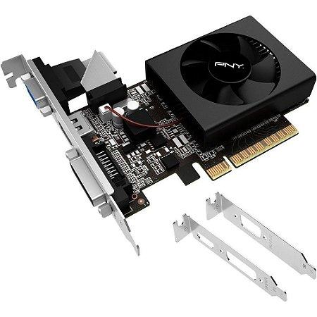Placa de Vídeo NVIDIA GT 730 2GB DDR3 64B LOW PROFILE  PNY VCGGT7302D36LXPBBB