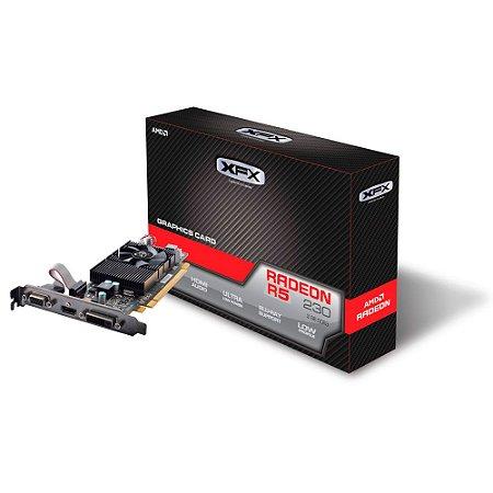 Placa de Vídeo RADEON R5 230 2GB CORE RADEON 128BITS DDR3 650M XFX R5-230A-CLF2