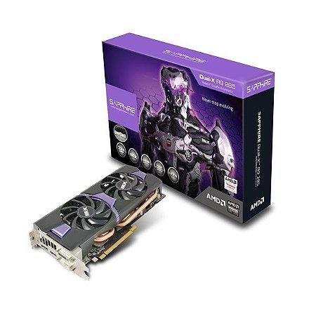 Placa de Vídeo RADEON R9 285 2GB DUAL-X DDR5 PCI-E SAPPHIRE 11235-03-20G