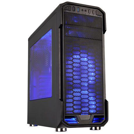 Gabinete Gamer C3Tech Preto Lateral Acrílico S/Fonte - MT-G600BK