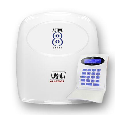 Central de Alarme Monitorável Active 8 Ultra C/ Teclado 12 zonas - JFL
