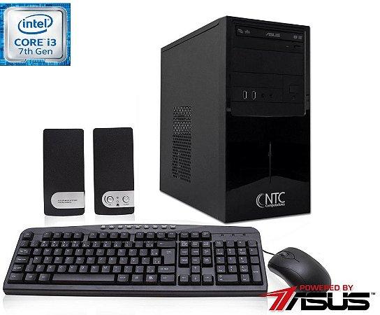 Computador NTC Intel Core i3 7100, 4GB, HD 1.0TB, DVD, KIT,  Asus H110M-C/BR, 300W - 4105 AS7G