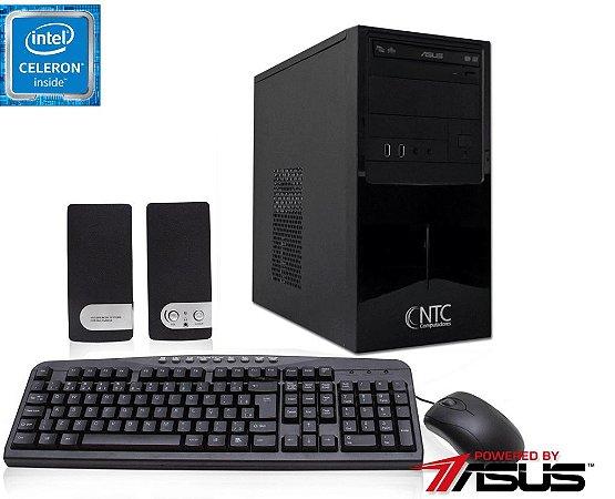 Computador NTC Intel Celeron J1800, 4GB, HD 500GB, DVD, KIT,  Asus J1800i-C/BR, 200w - 1025