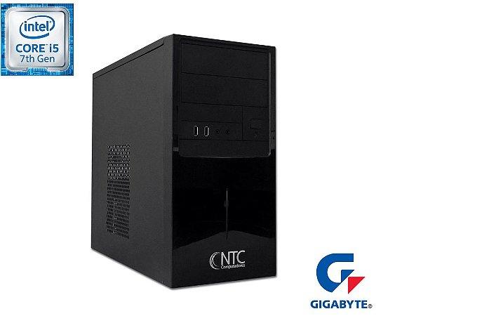 Computador NTC Price Intel Core i5 7400, 4GB, HD 500GB, DVD,  Gigabyte H110M-H (DDR3), 300W - 8112 GA7G