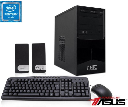 Computador NTC Intel Pentium Dual Core  G4400, 4GB, HD 500GB, DVD, KIT,  Asus H110  2105 AS