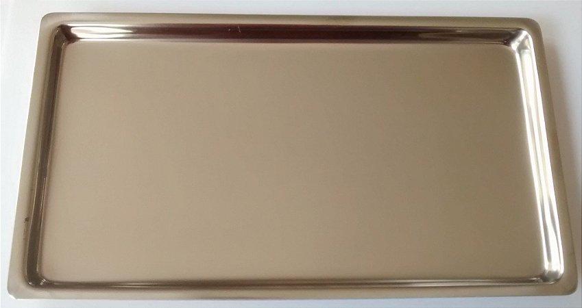 Bandeja inox lisa 22x17x1,5cm, marca Fava, modelo Mileniun MF 291042