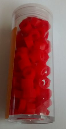 Codificador de silicone sextavado cor VERMELHO, embalagem com 100un