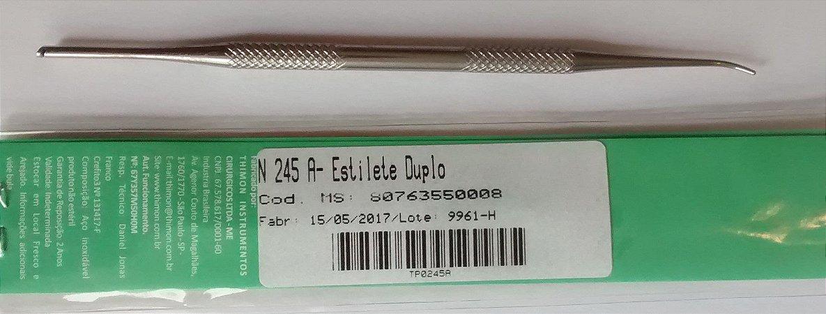 Estilete Duplo, inox, marca Thimon, modelo N 245 A