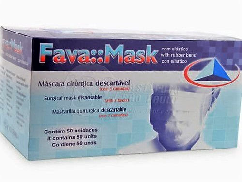 Máscara cirurgica com elastico , COR ROSA, marca Fava