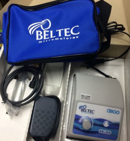 Micro Motor marca  Beltec, modelo LB100 CP (cinza, cabo 1,20 mt, COM PEDAL, peca reta)