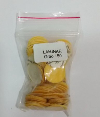 Lixa laminar GR 150, embalagem com 100 unidades