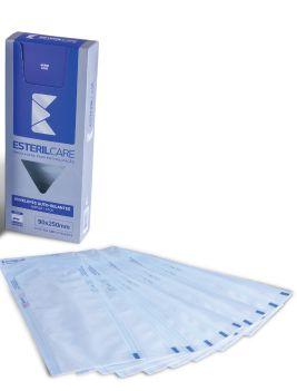 Envelope Auto Selante para esterilização de instrumentos,  9x25cm 100un. Marca EsterilCare