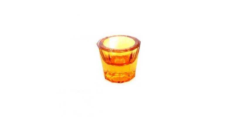 Pote Dappen em vidro cor ROSA, marca Thimon, modelo TPO 340