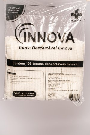 Touca Descart. C/Elástico Branca Sanfonada - INNOVA - 100 unidades