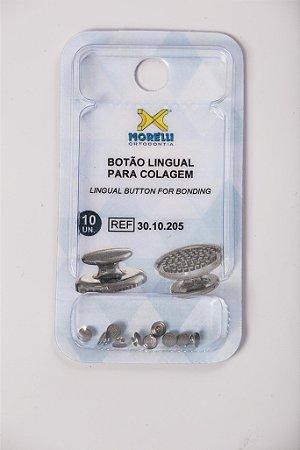 Botao Lingual para Colagem Metálico - Dental Morelli