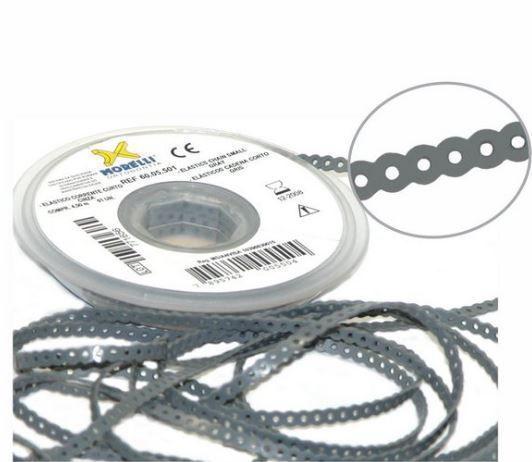 Elástico Corrente Curto Branco Renda - 1,5m, marca Dental Morelli
