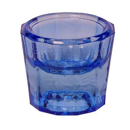 Pote Dappen em vidro cor AZUL, marca Thimon, modelo TPO 340